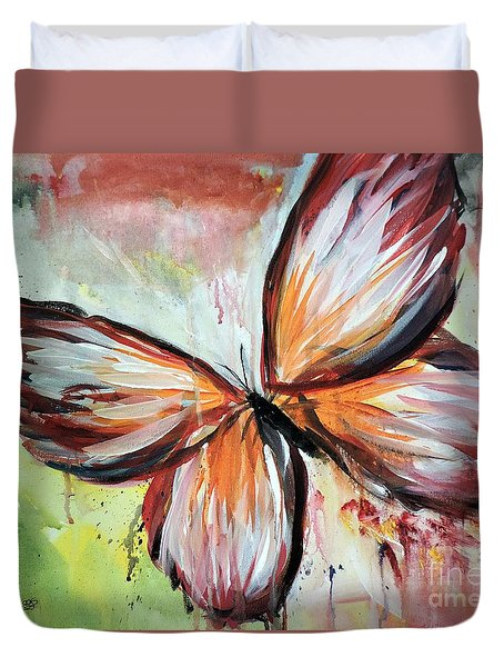 Acrylic Butterfly Duvet Cover