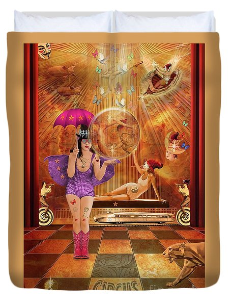 Act 4 Circus Pipe Dreams Alice In A Wonderland Duvet Cover