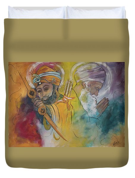 Action In Peace Duvet Cover