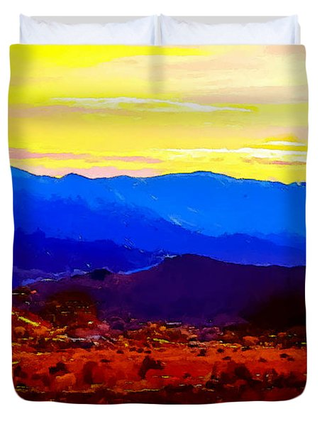 Acton California Sunset Duvet Cover