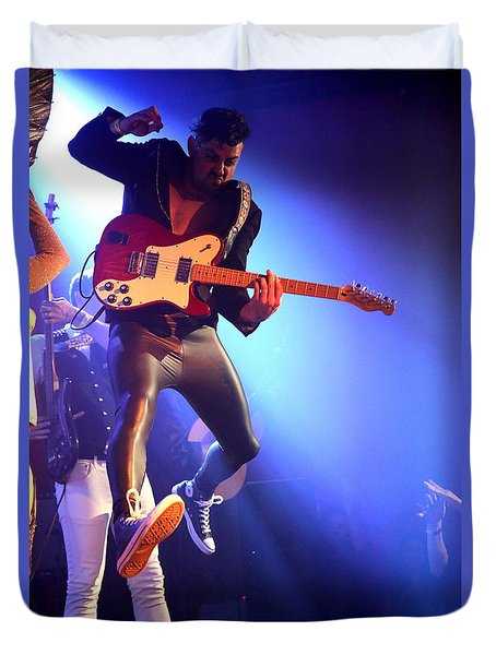 Duvet Cover featuring the photograph Adam Catches Some Air by John King