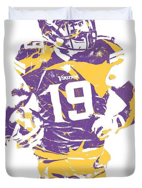 Adam Thielen Minnesota Vikings Pixel Art 2 Duvet Cover