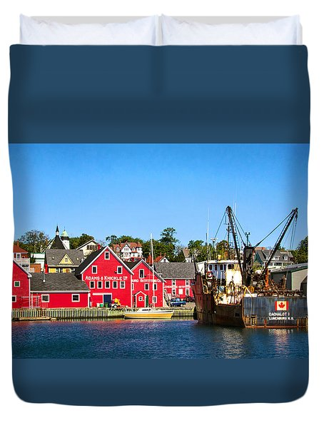 Adams And Knickle Fishing Company Duvet Cover