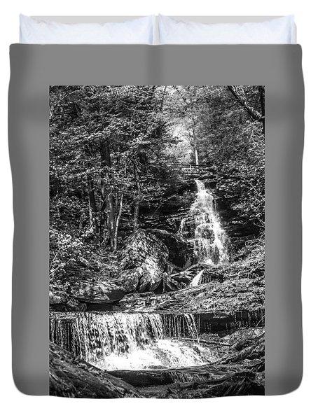 Adams Falls - 8867 Duvet Cover
