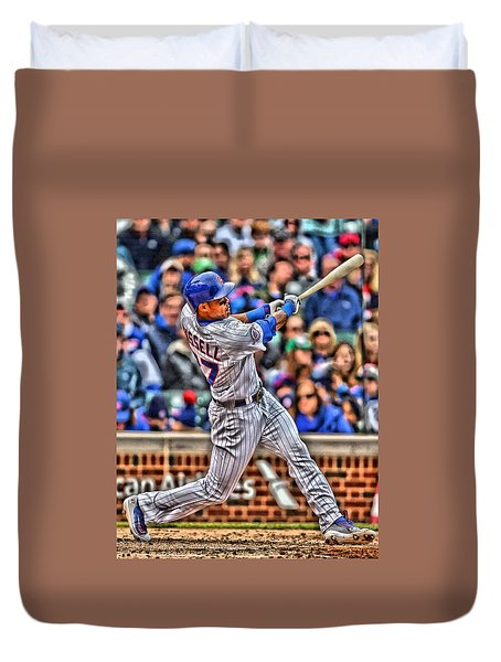 Addison Russell Chicago Cubs Duvet Cover