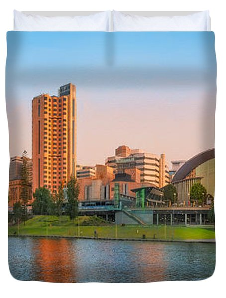 Adelaide Riverbank Panorama Duvet Cover