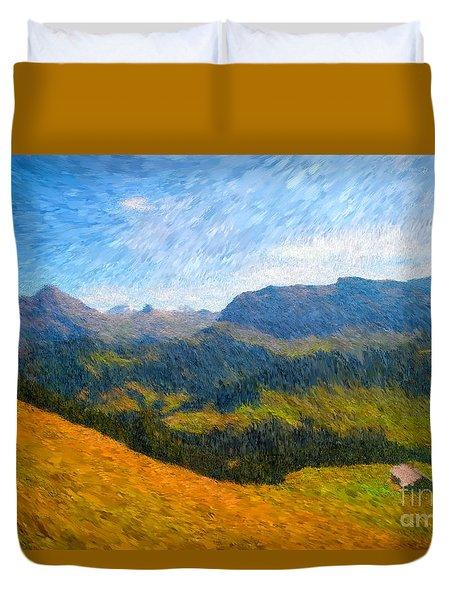 Adelboden Countryside Duvet Cover
