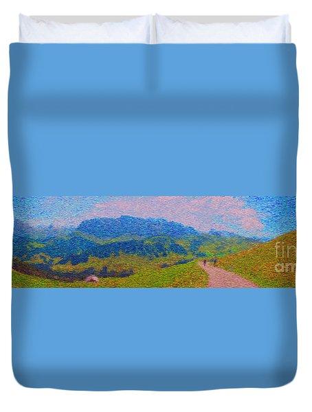 Adelboden Panoramic Duvet Cover