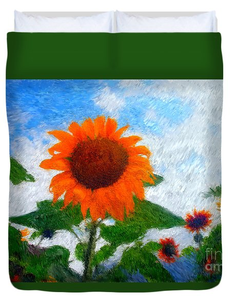 Adelboden Sunflower Duvet Cover