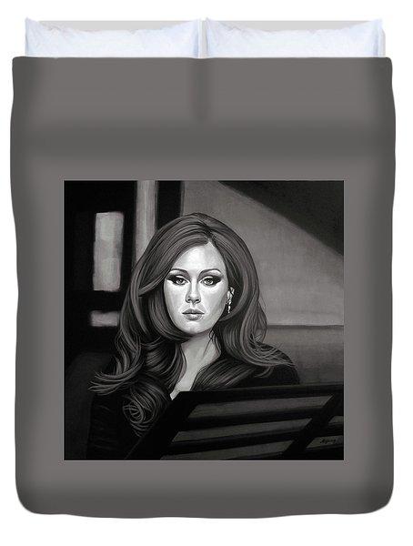 Adele Mixed Media Duvet Cover