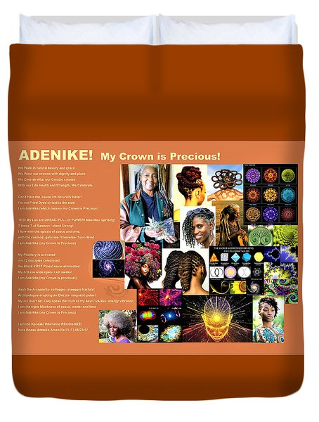 Adenike My Crown Is Precious Duvet Cover