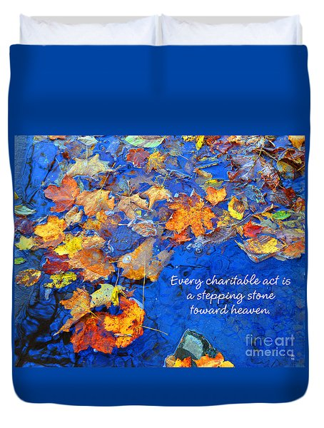 Adironack Laughing Water Charity Duvet Cover by Diane E Berry