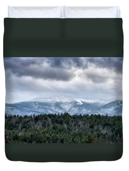 Duvet Cover featuring the photograph Adirondack High Peaks During Winter - New York by Brendan Reals