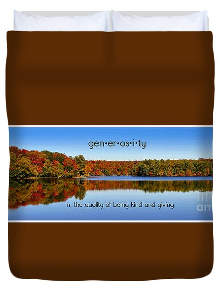 Duvet Cover featuring the photograph Adirondack October Generosity by Diane E Berry