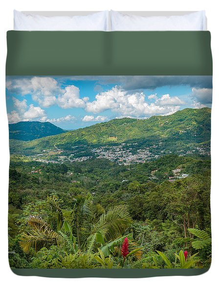 Duvet Cover featuring the photograph Adjuntas by Jose Oquendo