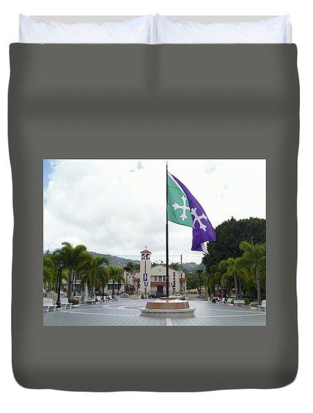 Adjuntas, Puerto Rico Flag Duvet Cover