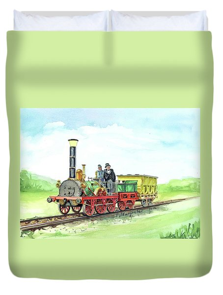 steamengine Adler Duvet Cover
