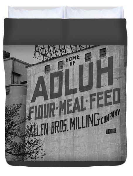 Duvet Cover featuring the photograph Adluh Flour 2012 A by Joseph C Hinson Photography
