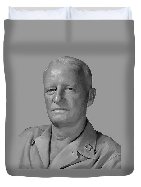 Admiral Chester Nimitz Duvet Cover by War Is Hell Store