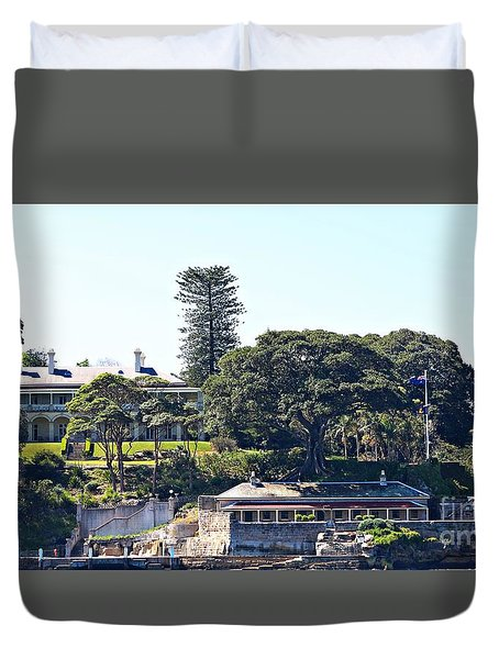 Duvet Cover featuring the photograph Admiralty House by Stephen Mitchell
