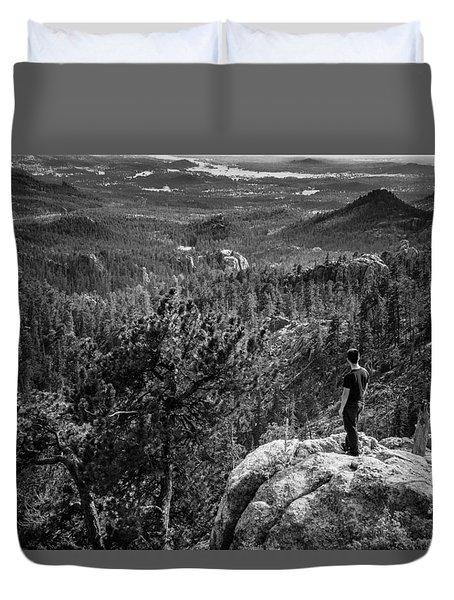 Duvet Cover featuring the photograph Needles Point South Dakota by Jason Moynihan