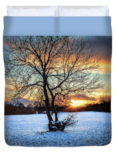 Admiring The Sunet Duvet Cover