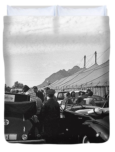 Adolf Hitlers Mercedes Benz 770k Touring Car Circus Tent Scottsdale Arizona 1973-2016 Duvet Cover