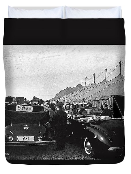 Duvet Cover featuring the photograph Adolf Hitlers Mercedes Benz 770k Touring Car Circus Tent Scottsdale Arizona 1973-2016 by David Lee Guss