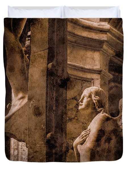 Paris, France - Adoring Angel Duvet Cover