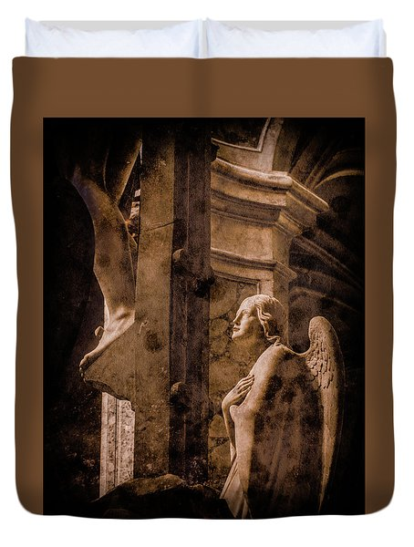 Paris, France - Adoring Angel Duvet Cover