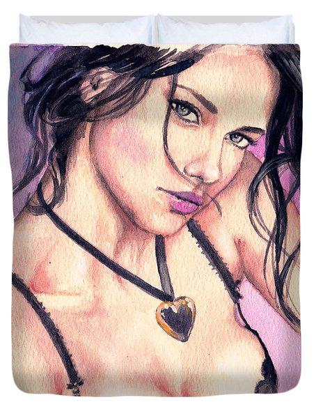 Adriana Lima Duvet Cover