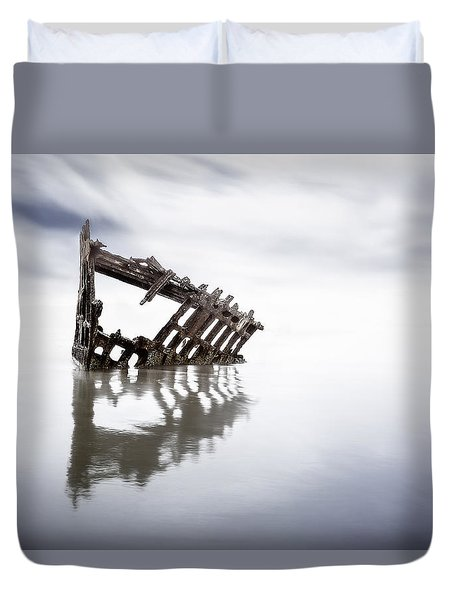 Adrift At Sea Duvet Cover by Eduard Moldoveanu