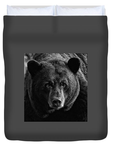 Adult Male Black Bear Duvet Cover by Coby Cooper