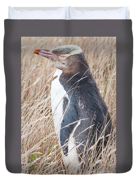 Adult Yellow-eyed Penguin 2 Duvet Cover