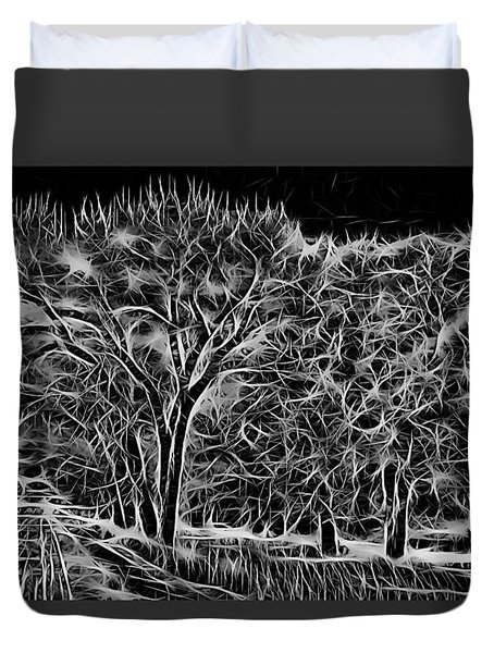 Advent Trees Duvet Cover