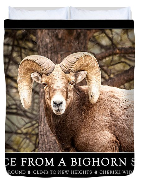 Advice From A Bighorn Sheep Duvet Cover