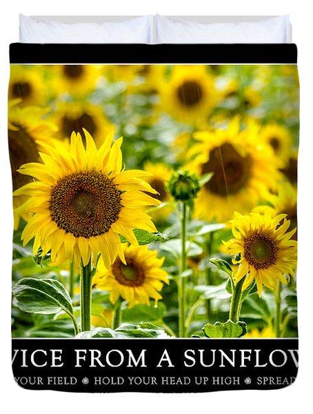 Advice From A Sunflower Duvet Cover