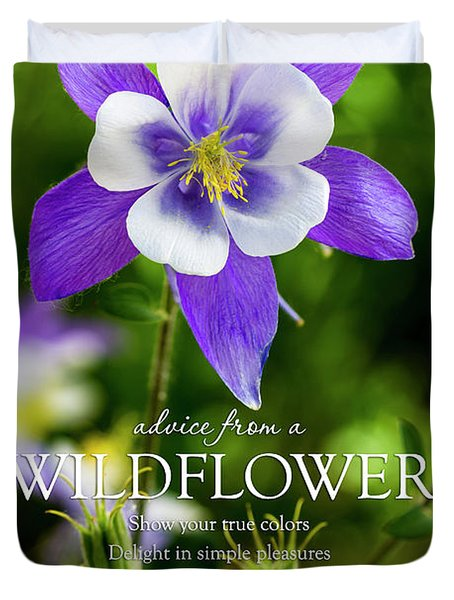 Advice From A Wildflower Columbine Duvet Cover