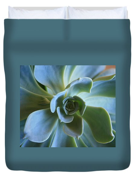 Duvet Cover featuring the photograph Aeonium by Marna Edwards Flavell