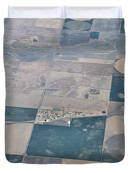 Duvet Cover featuring the photograph Aerial 1 by Steven Richman