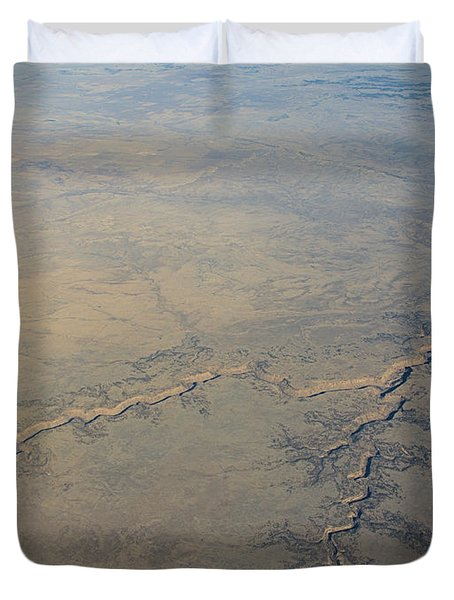 Duvet Cover featuring the photograph Aerial 2 by Steven Richman