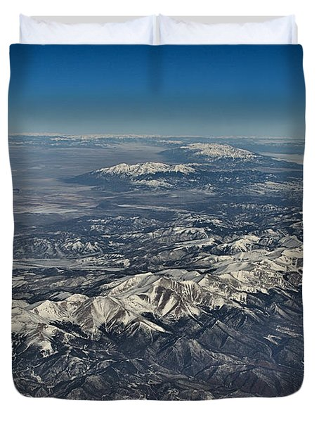 Duvet Cover featuring the photograph Aerial 3 by Steven Richman