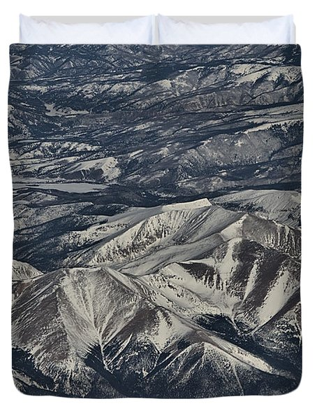Duvet Cover featuring the photograph Aerial 4 by Steven Richman