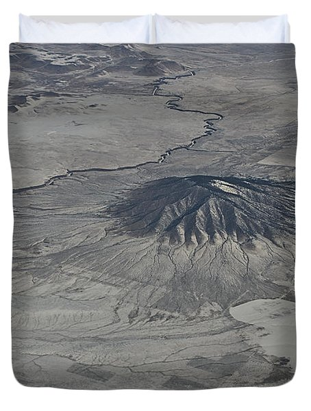 Duvet Cover featuring the photograph Aerial 5 by Steven Richman