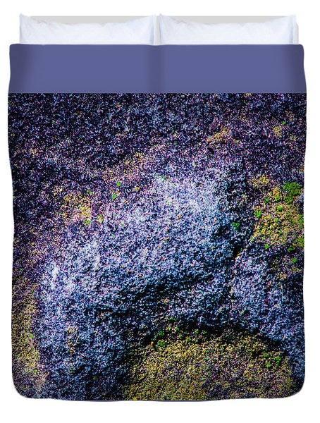 Aerial Map Abstract Duvet Cover
