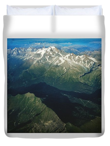Aerial Photograph Of The Swiss Alps Duvet Cover