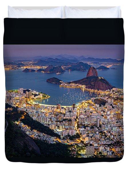 Aerial Rio Duvet Cover