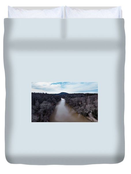 Aerial River View Duvet Cover