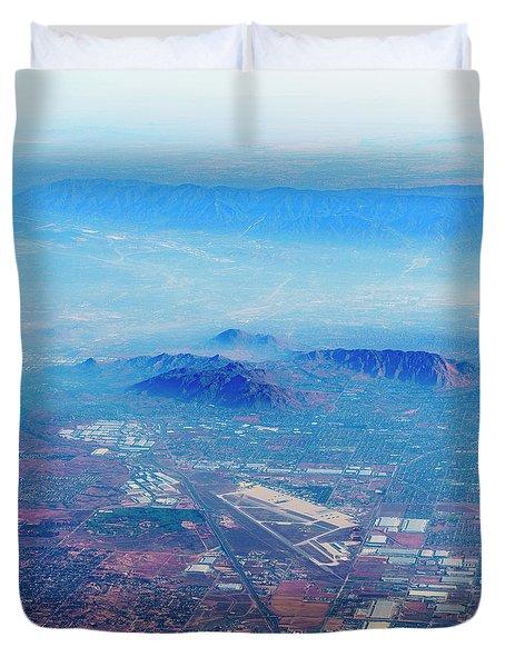 Aerial Usa. Los Angeles, California Duvet Cover by Alex Potemkin
