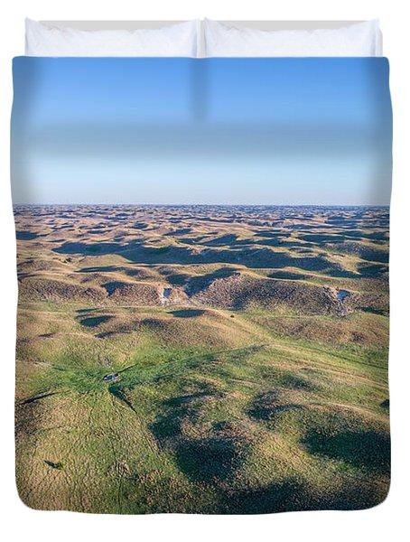 aerial view of Nebraska Sand Hills  Duvet Cover